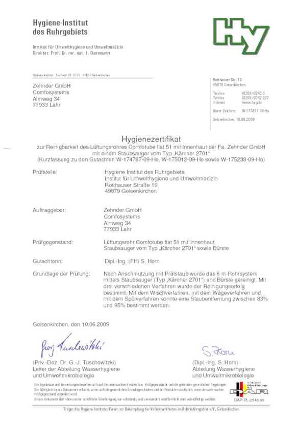 Hygiene | Zehnder Group Sales International