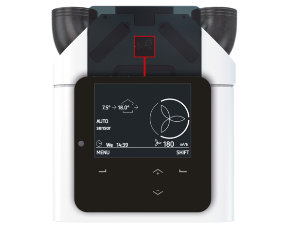 Zehnder ComfoAir Q450 HRV valdymas